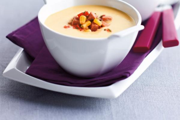 creamy corn and ham soup
