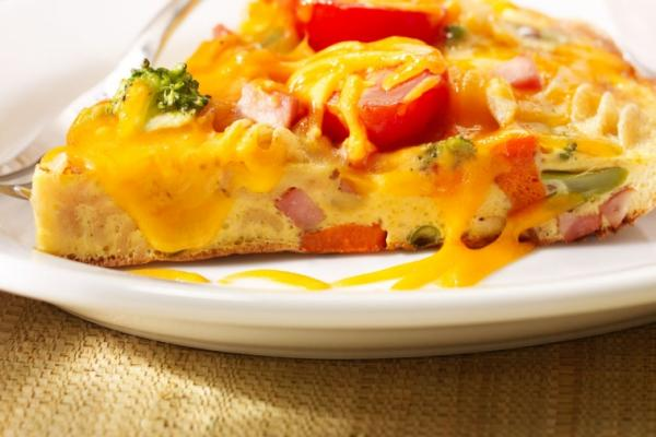 easy veggie ham and cheddar supper