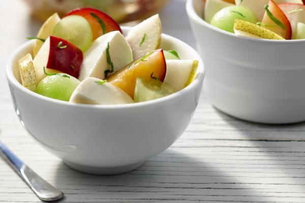 fruit salad with bocconcini and tarragon