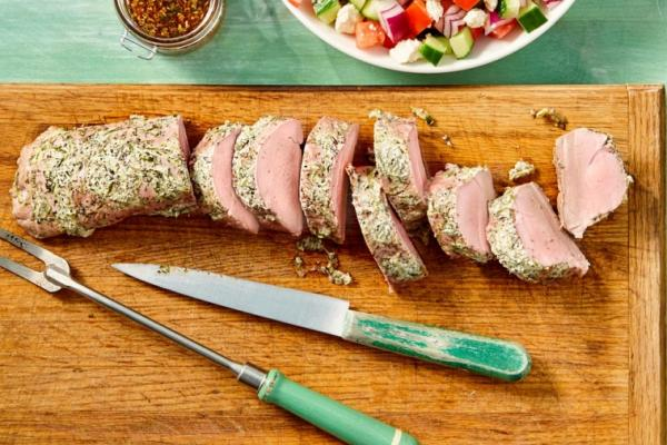 greek marinated pork tenderloin