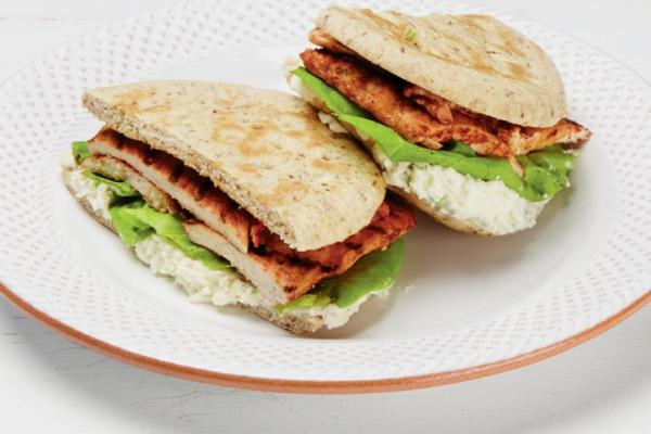 ricotta and grilled tandoori chicken sandwich