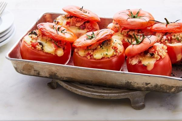 tuna melt stuffed tomatoes