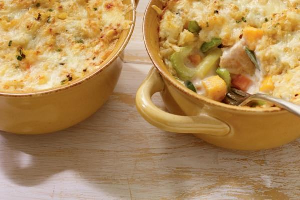 vegetable chicken and cheddar casserole