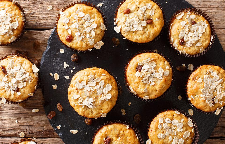 Easy to freeze muesli muffins