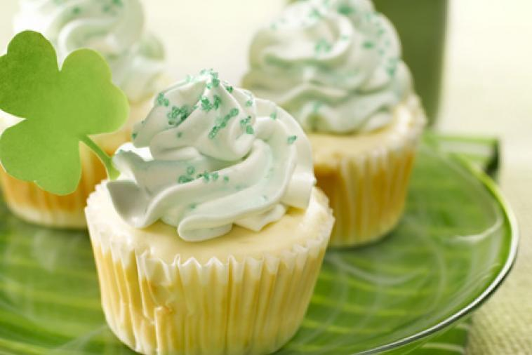 Wee leprechaun cheesecakes St. Patrick's Day recipe