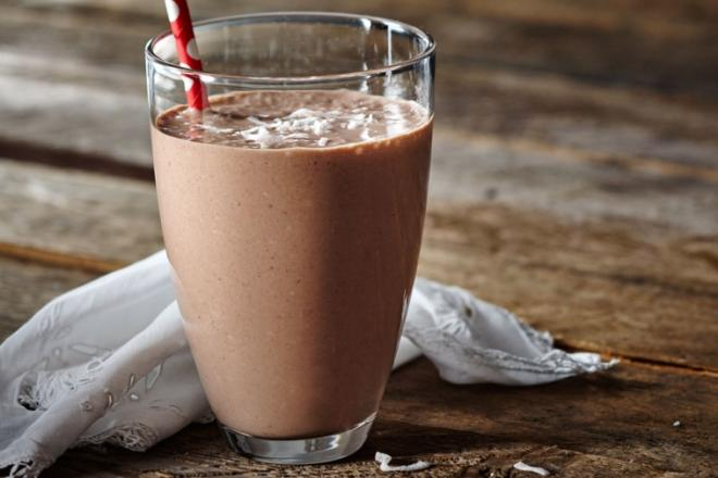cocoa coconut banana smoothie