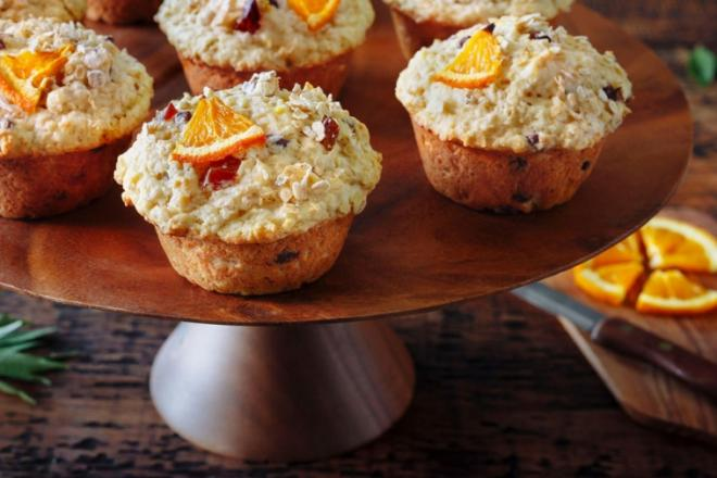 rise and shine orange oatmeal muffins