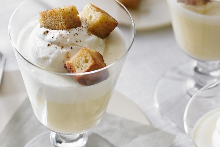egg nog panna cotta