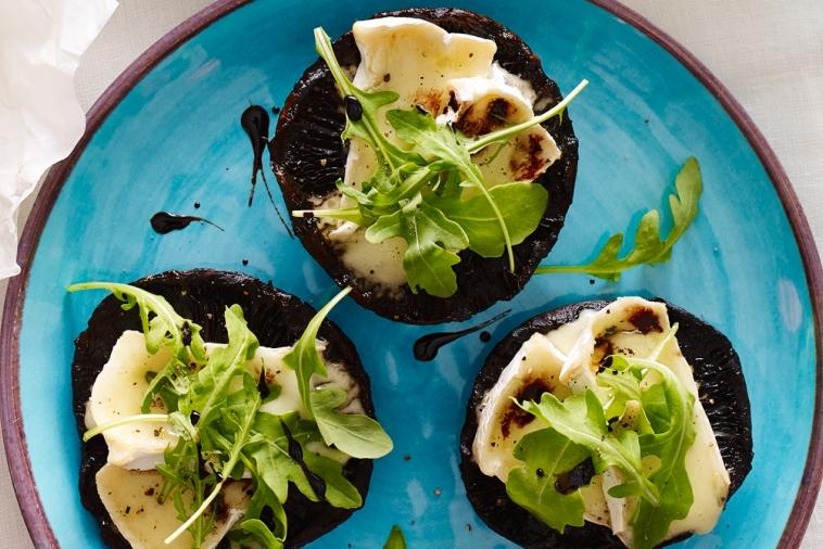 grilled portobello with canadian brie