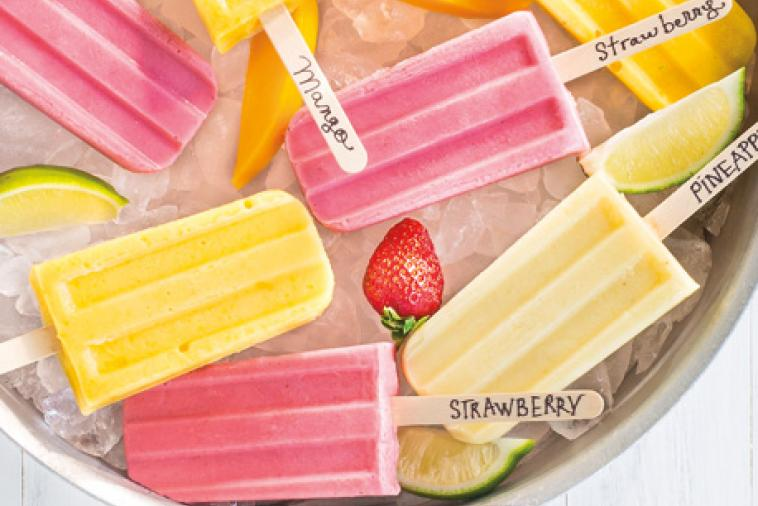 honey strawberry ice pops