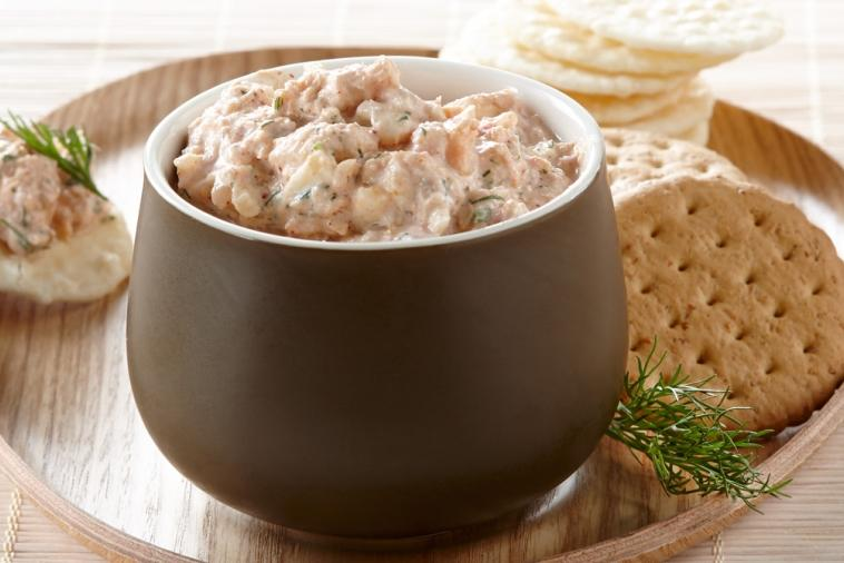 salmon yogurt spread
